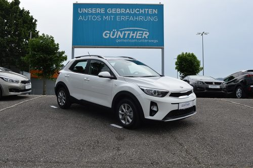 KIA Stonic 1,25 MPI ISG Silber bei Auto Günther in